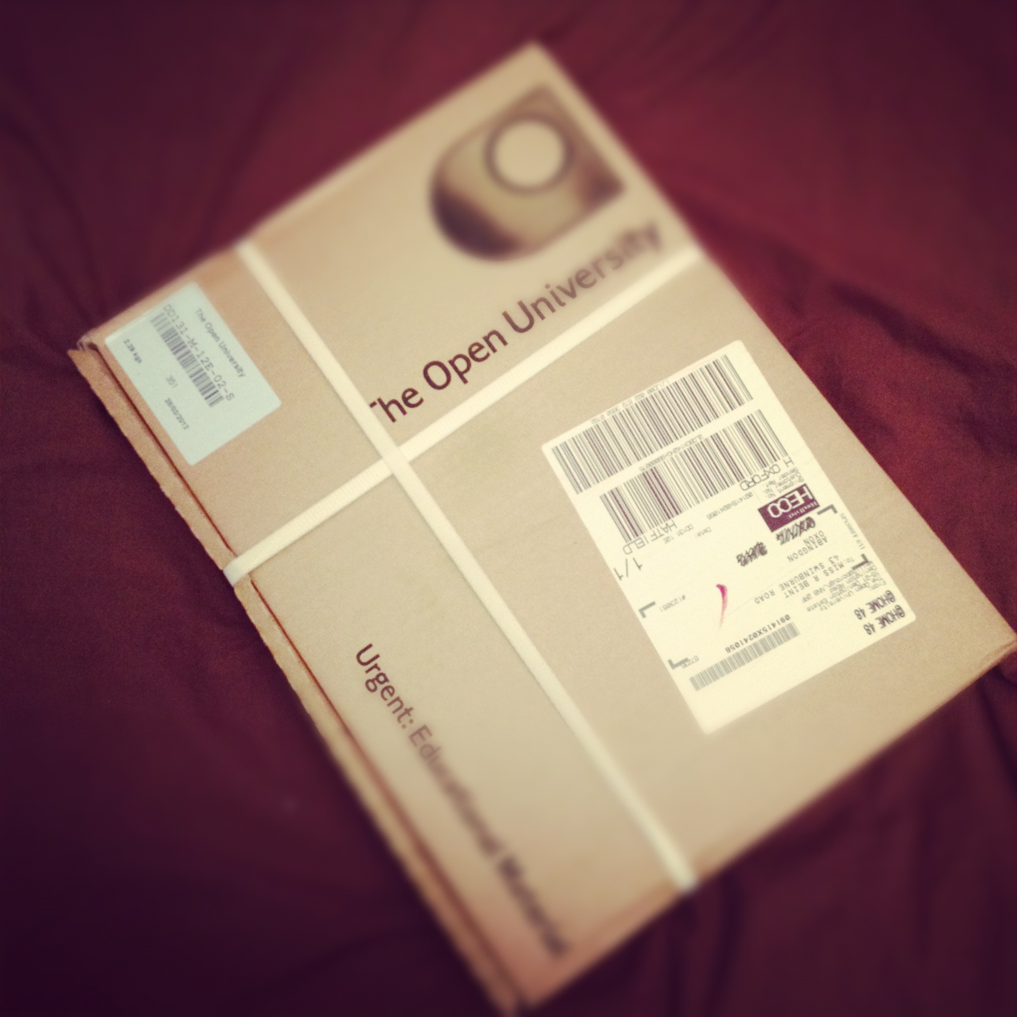 Open University parcel